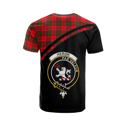 Tartan Shirt - Heron Clan Tartan Plaid T-Shirt Curve Version Back