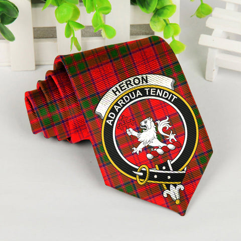 Image of Heron Tartan Tie with Clan Crest TH8