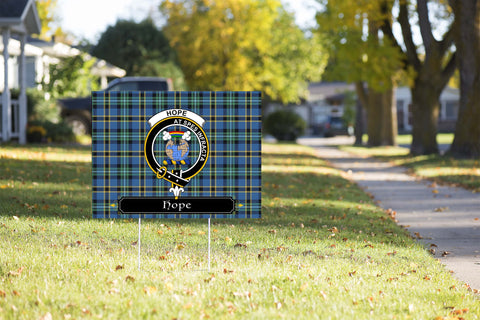 ScottishShop Hope Yard Sign - Tartan Crest Yard Sign
