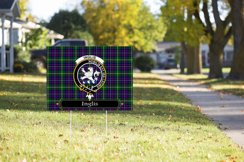 ScottishShop Inglis Yard Sign - Tartan Crest Yard Sign