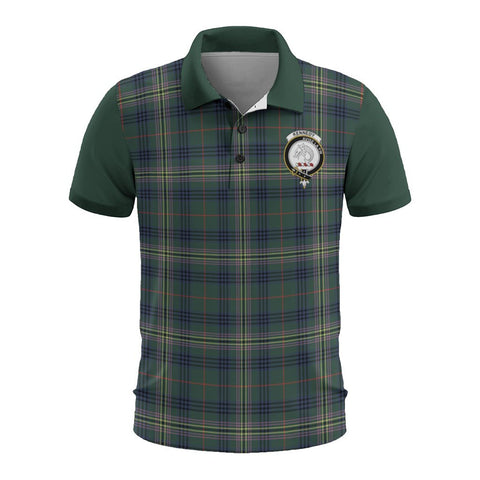 Tartan Polo - Kennedy Plaid Mens Polo Shirt - Clan Crest