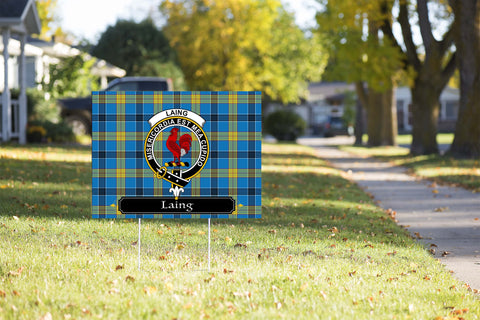 ScottishShop Laing Yard Sign - Tartan Crest Yard Sign