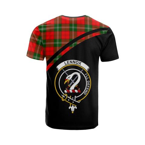 Tartan Shirt - Lennox Clan Tartan Plaid T-Shirt Curve Version Back
