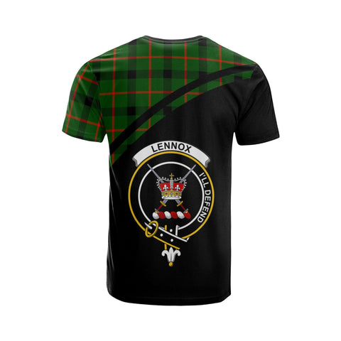 Tartan Shirt - Lennox (Lennox Kincaid)  Clan Tartan Plaid T-Shirt Curve Version Back