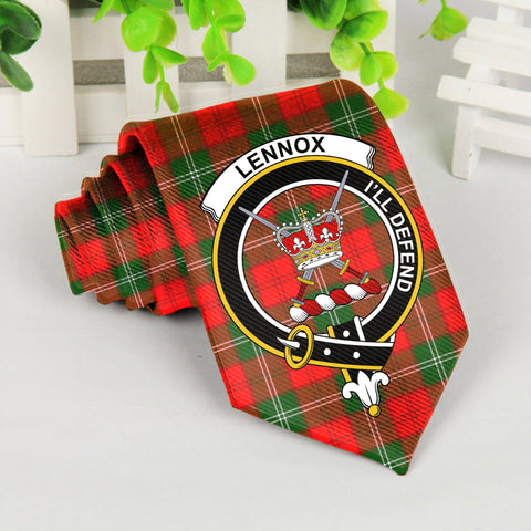 Lennox Kincaid Tartan Tie with Clan Crest TH8