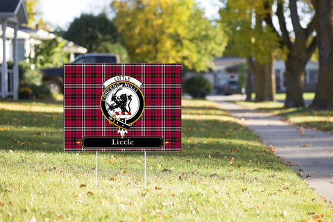ScottishShop Little Yard Sign - Tartan Crest Yard Sign