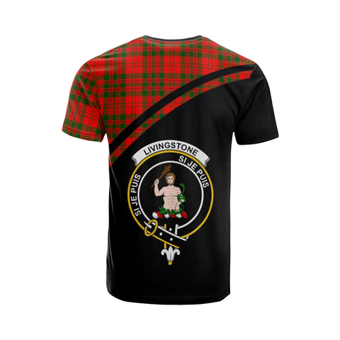 Tartan Shirt - Livingstone Clan Tartan Plaid T-Shirt Curve Version Back