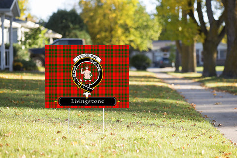 ScottishShop Livingstone Yard Sign - Tartan Crest Yard Sign