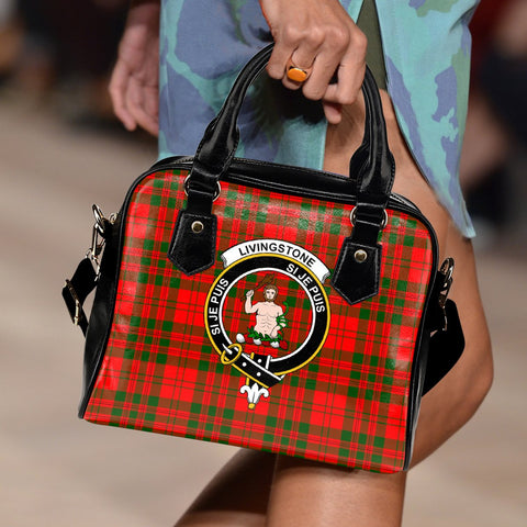 Livingstone Modern Tartan Clan Shoulder Handbag | Special Custom Design