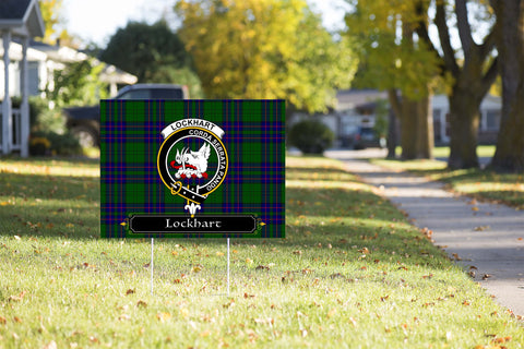 ScottishShop Lockhart Yard Sign - Tartan Crest Yard Sign