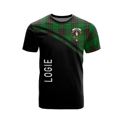 Tartan Shirt - Logie Clan Tartan Plaid T-Shirt Curve Version Front