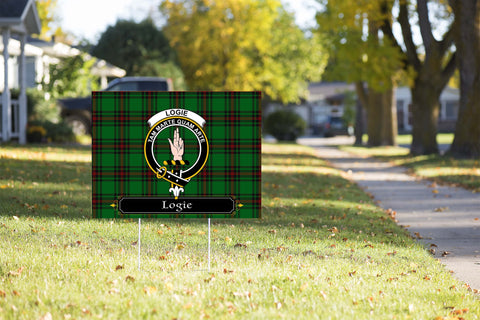ScottishShop Logie Yard Sign - Tartan Crest Yard Sign