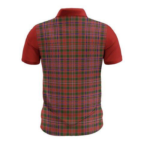 Tartan Polo - MacAlister Plaid Mens Polo Shirt - Clan Crest