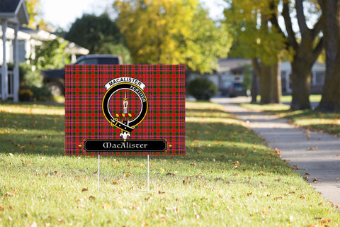 ScottishShop MacAlister Yard Sign - Tartan Crest Yard Sign