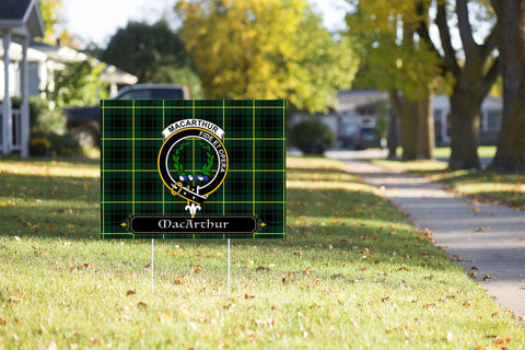 ScottishShop MacArthur Yard Sign - Tartan Crest Yard Sign