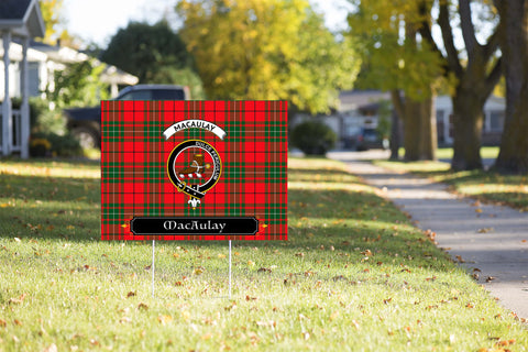 ScottishShop MacAulay Yard Sign - Tartan Crest Yard Sign