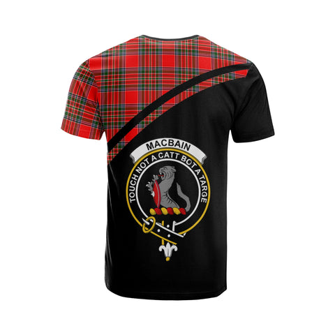 Image of MacBain Tartan All Over T-Shirt - Curve Style