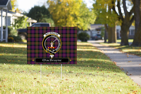 ScottishShop MacBrayne Yard Sign - Tartan Crest Yard Sign