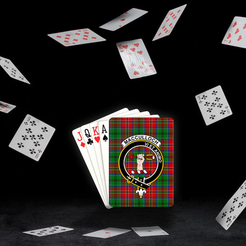 ScottishShop MacCulloch (McCulloch) Playing Card - Tartan Playing Card Royal Style