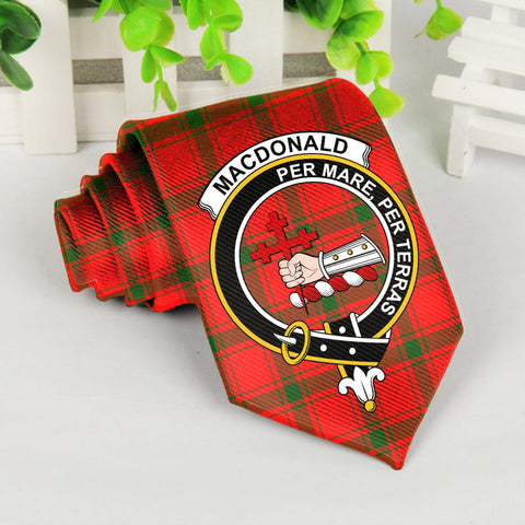 ScottishShop Tartan Necktie - Macdonald Of Sleat Tartan Tie Clan Crest