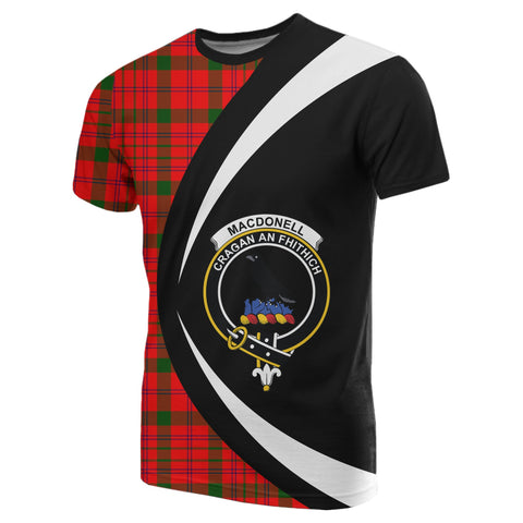 Image of MacDonnell of Keppoch Modern Tartan T-shirt Circle