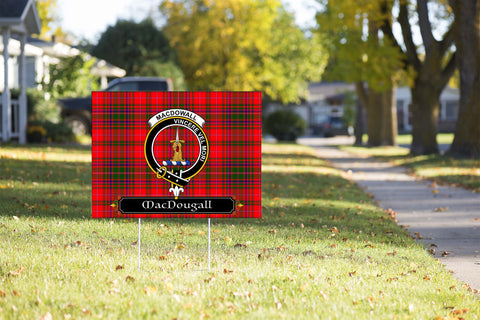 ScottishShop MacDowall (of Garthland) Yard Sign - Tartan Crest Yard Sign