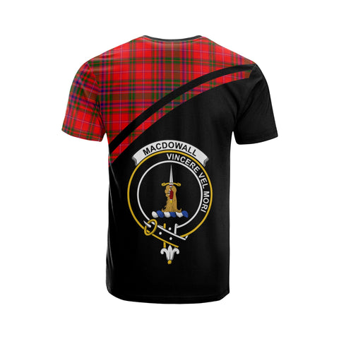 Tartan Shirt - MacDowall (of Garthland) Clan Tartan Plaid T-Shirt Curve Version Back