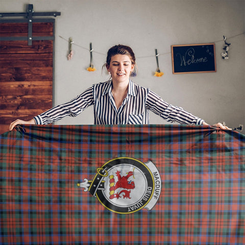 MacDuff Crest Tartan Tablecloth | Home Decor