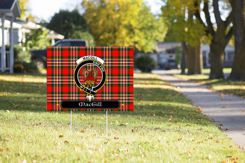 ScottishShop MacGill (Makgill) Yard Sign - Tartan Crest Yard Sign