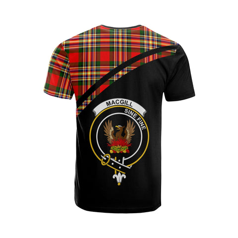Image of Tartan Shirt - MacGill (Makgill) Clan Tartan Plaid T-Shirt Curve Version Back