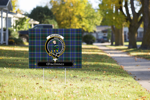 ScottishShop MacInnes Yard Sign - Tartan Crest Yard Sign