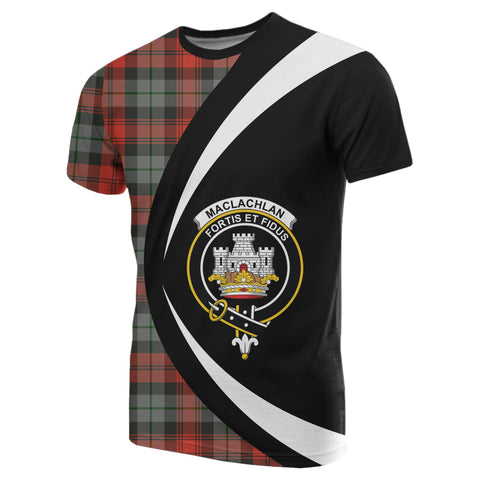 Image of MacLachlan Weathered Tartan T-shirt Circle