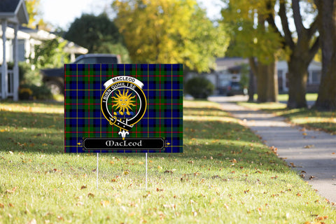 ScottishShop MacLeod Yard Sign - Tartan Crest Yard Sign