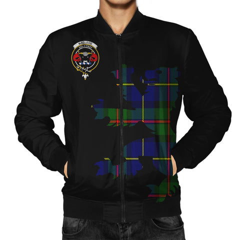 ScottishShop Tartan Bomber Jacket - MacLeod Tartan Lion & Thistle Men Jacket