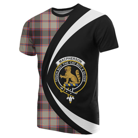 Image of MacPherson Hunting Ancient Tartan T-shirt Circle