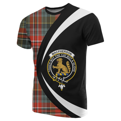 Image of MacPherson Weathered Tartan T-shirt Circle