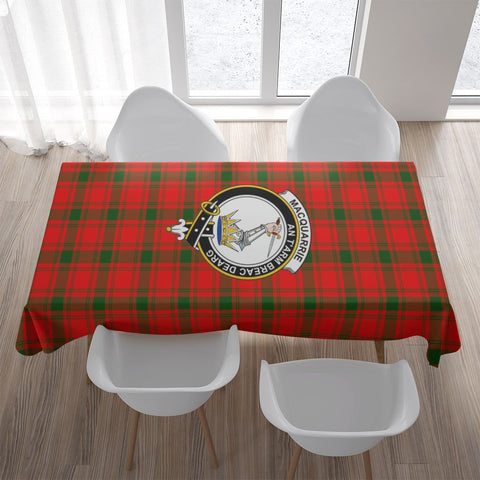 MacQuarrie Crest Tartan Tablecloth | Home Decor
