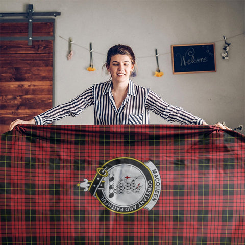 MacQueen Crest Tartan Tablecloth | Home Decor