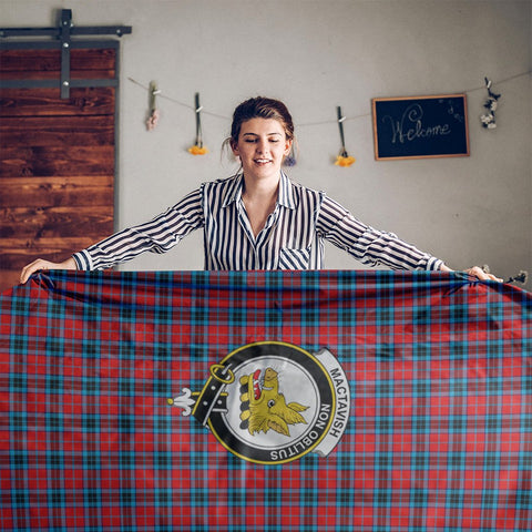 MacTavish Crest Tartan Tablecloth | Home Decor