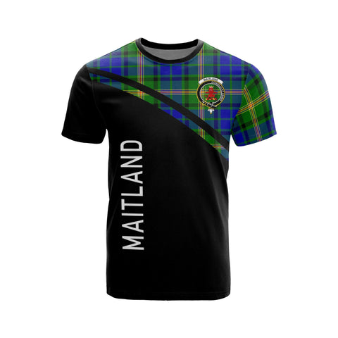 Tartan Shirt - Maitland Clan Tartan Plaid T-Shirt Curve Version Front