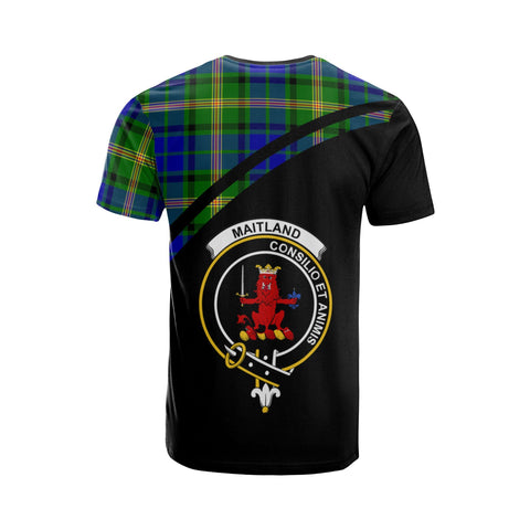 Tartan Shirt - Maitland Clan Tartan Plaid T-Shirt Curve Version Back