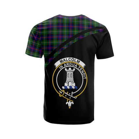 Malcolm (or MacCallum) Tartan All Over T-Shirt - Curve Style