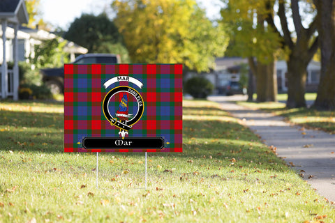 ScottishShop Mar Yard Sign - Tartan Crest Yard Sign