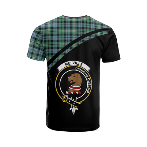 Tartan Shirt - Melville Clan Tartan Plaid T-Shirt Curve Version Back