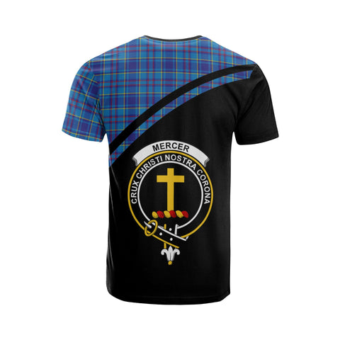 Image of Tartan Shirt - Mercer Clan Tartan Plaid T-Shirt Curve Version Back