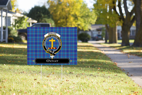 ScottishShop Mercer Yard Sign - Tartan Crest Yard Sign