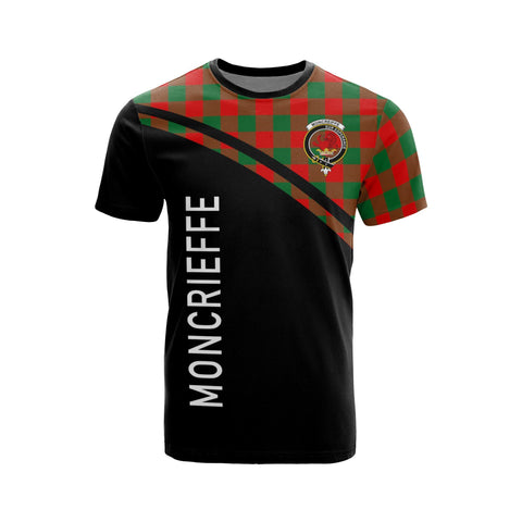 Tartan Shirt - Moncrieffe Clan Tartan Plaid T-Shirt Curve Version Front