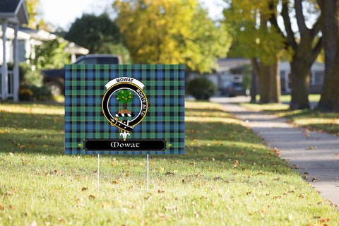 ScottishShop Mowat (of Inglistoun) Yard Sign - Tartan Crest Yard Sign