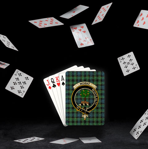 ScottishShop Mowat (of Inglistoun) Playing Card - Tartan Playing Card Royal Style