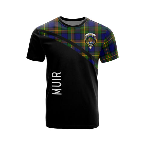 Tartan Shirt - Muir Clan Tartan Plaid T-Shirt Curve Version Front